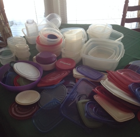 Plastic Tupperware Containers to Sort and Organize