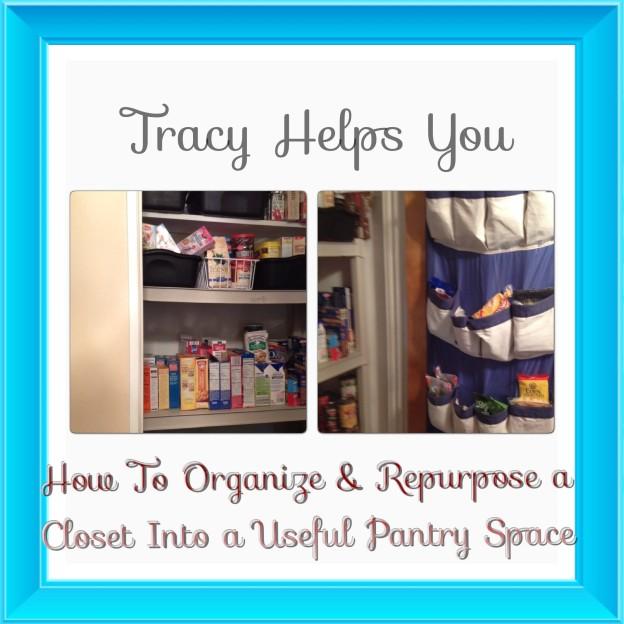 How to Organize & Repurpose a Closet into a Pantry