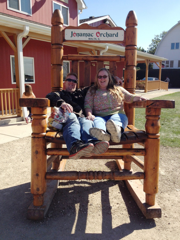 Giant Chair at Fall Festival